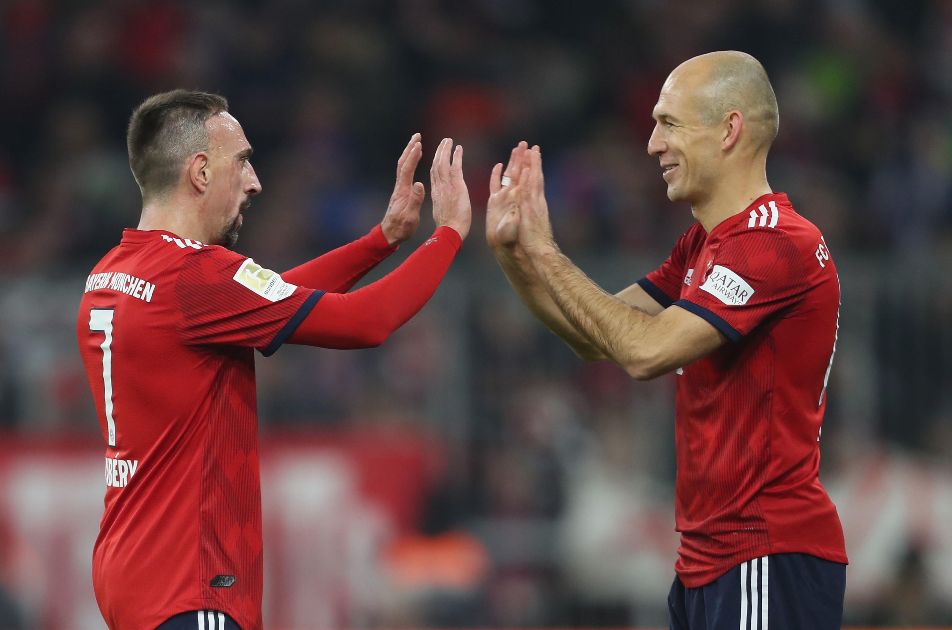 Bayern Munich: Franck Ribery comments on Arjen Robben departure